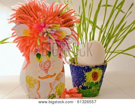 Leo Cardboard Easter Egg Greens