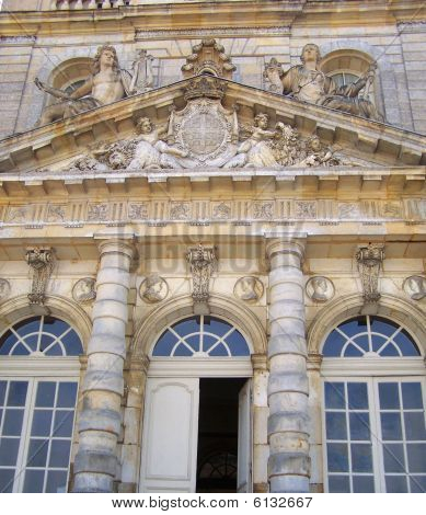 Luxembourg Palace Castle Facade's Details - Paris City