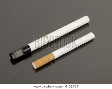 Electronic Cigarette With Analog Cigarette
