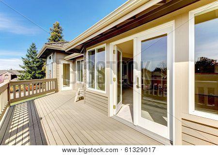 Wooden Walkout Deck