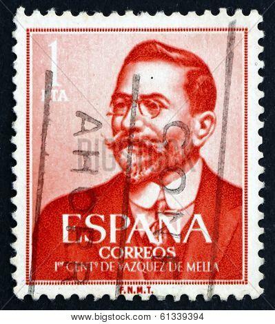 Postage Stamp Spain 1961 Juan Vazquez De Mella, Politician