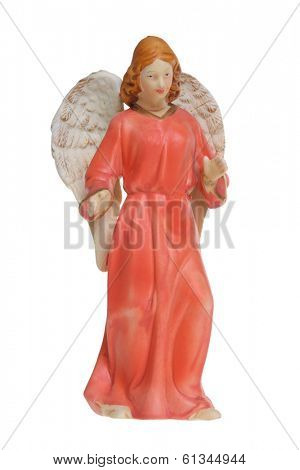 Angel figure cutout, isolated on white background