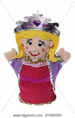stuffed princess doll on white background