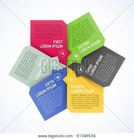 Six consecutive step design element template