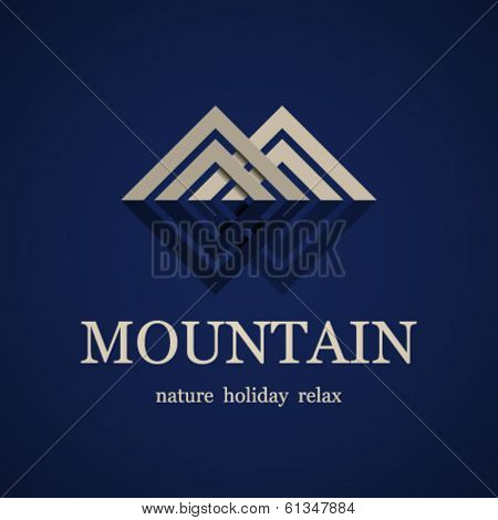 vector mountain symbol design template