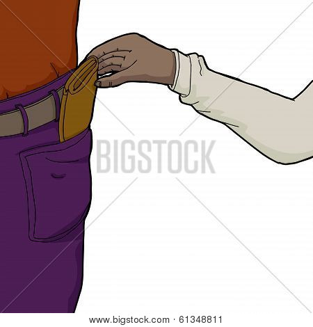 Pickpocket Taking Wallet