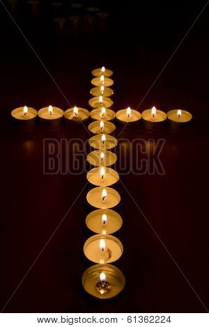 Candles In The Shape Of A Cross