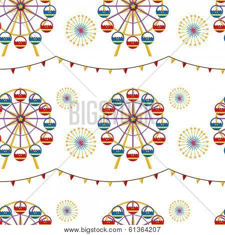 Illustration of a seamless design with a carnival