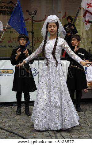 """Dancers at Folklore Festival """"Prague Fair� size="""
