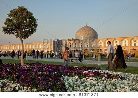 Naqsh-e Jahan Square In Isfahan City