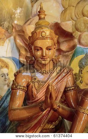 Detail from Gangaramaya Temple in Colombo Sri Lanka poster