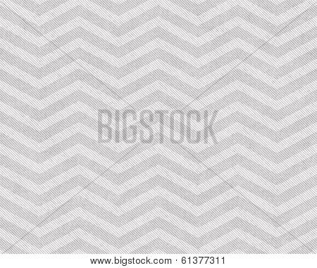 Light Gray and White Zigzag Textured Fabric Background that is seamless and repeats poster