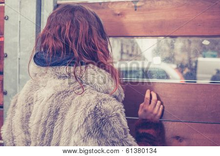 Young Woman Looking Out