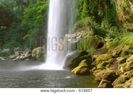 Cascada (waterfall) Misol Ha, Chiapas, Mexico poster