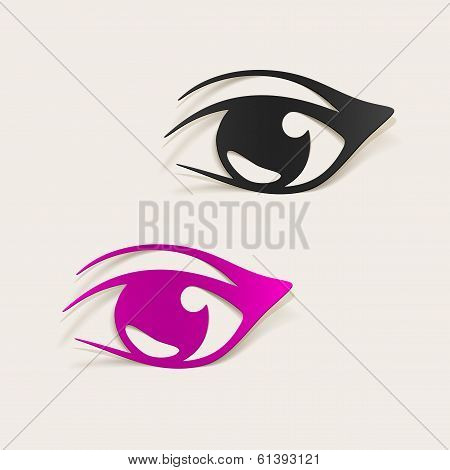 realistic design element: eye. This is file of EPS10 format. poster