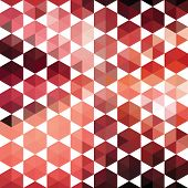 Pattern of geometric shapes hexagon. Colorful mosaic banner. Geometric hipster retro background with place for your text. Retro triangle background poster