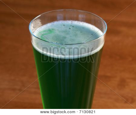 Long standing tradition on St. Patrick's Day is drinking of green beer poster