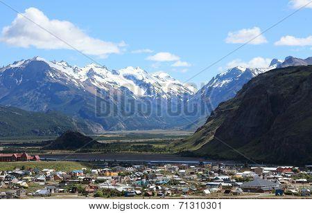 Snow capped mountains near El Chalten, Argentina