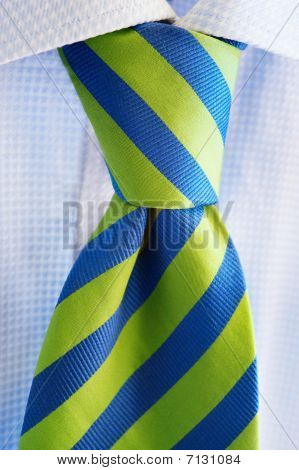 Green And Blue Tie