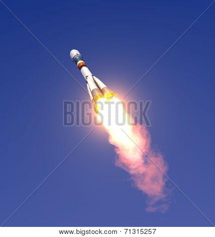 Carrier Cargo Rocket Take Off