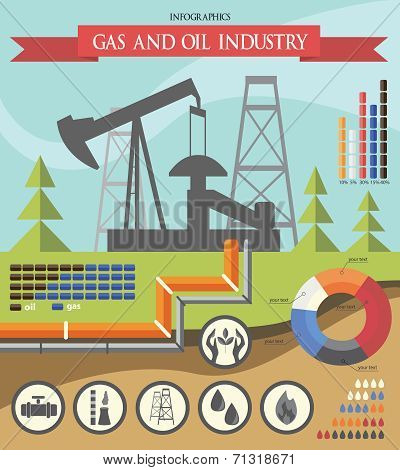 Gas And Oil Industry Infographic