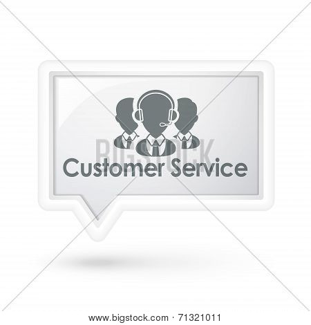 Customer Service With Services Icon On A Speech Bubble