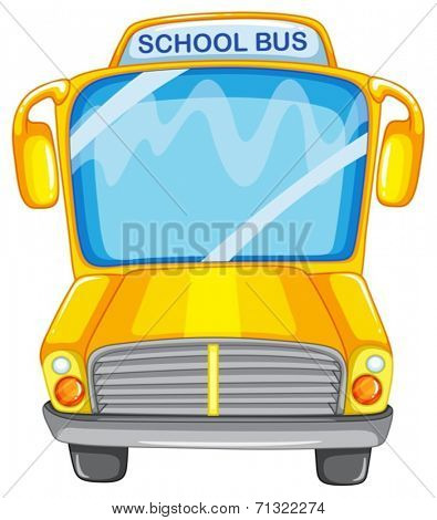 Illustration of a single school bus