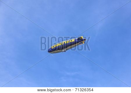 The Good Year Blimp Zeppelin, Spirit Of Goodyear In The Air