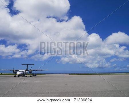 Airport apron of Yonaguni Airport, Okinawa Japan