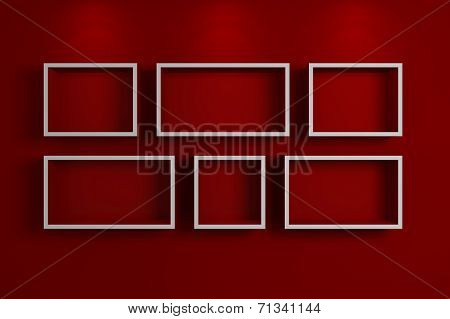Modern shelf on a wall,