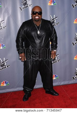 LOS ANGELES - NOV 07:  CEE LO GREEN  arrives to the The Voice Season 5-Top 12  on November 7, 2013 in Universal City, CA