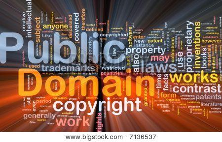 Public Domain Background Concept Glowing