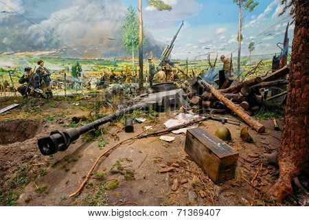 Exposure Of Weapons And Equipment In The Belarusian Museum Of The Great Patriotic War. Minsk, Belaru