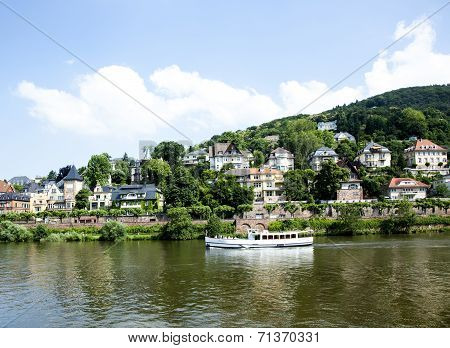 River Cruise Ship On The Neckar