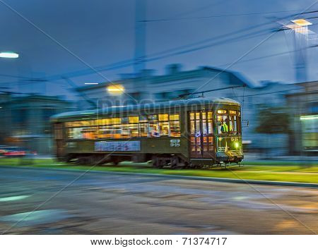 Streetcar Line St. Charles Ny Night In New Orleans