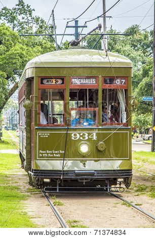Famous Old Street Car St. Charles Line