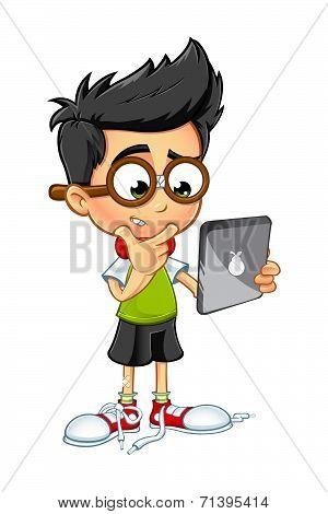 Geek Boy Cartoon character