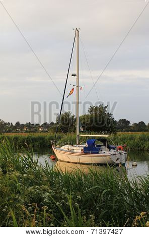 Sailboat At River Frome, Wareham