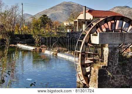 Watermill on tributary of The Trebishnjica river, Bosnia and Herzegovina.