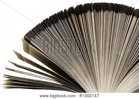 old great book on a white background