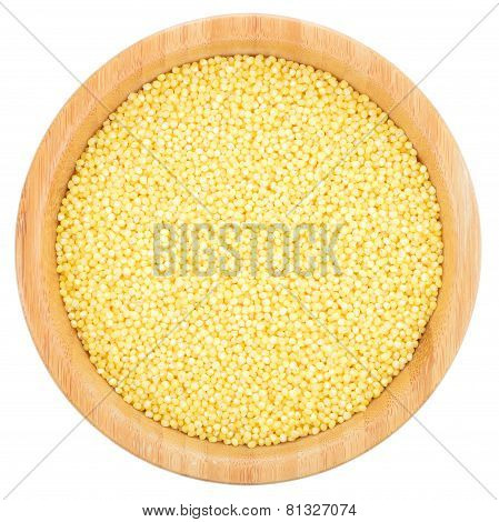 Millet In Bowl Isolated.