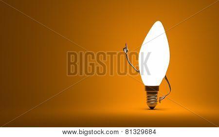 ???torpedo Light Bulb Character In Aha Moment