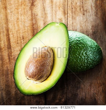 A Sliced Avocado On A Cutting Board