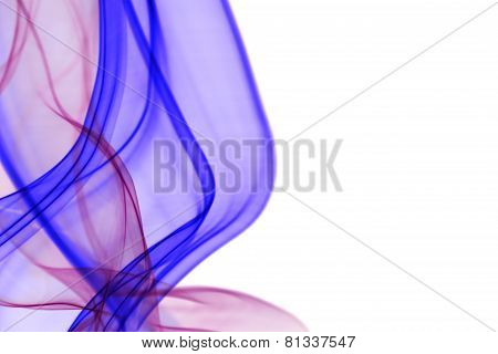 Purple waves of light