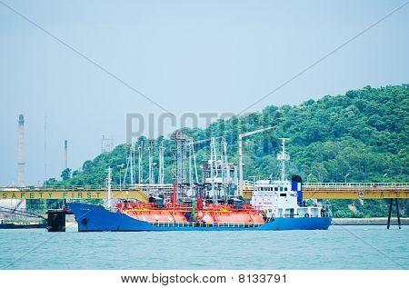 Lpg-tanker At Loading Terminal