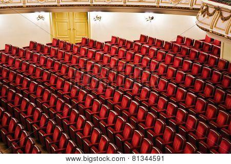 DRESDEN, GERMANY - JUNE 9, 2009: Semper Opera from inside in  Dresden