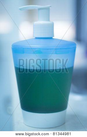 Liquid Soap Bottle Of Handwash In Bathroom