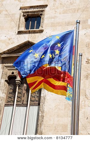Three Flags In Valencia