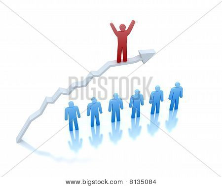 Perfect success in business . 3D concept