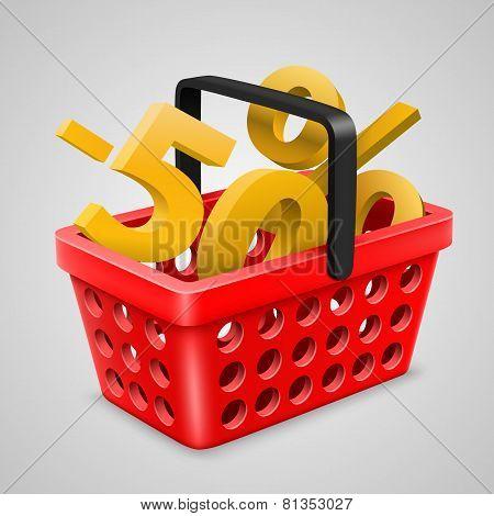 vector red basket Bargain